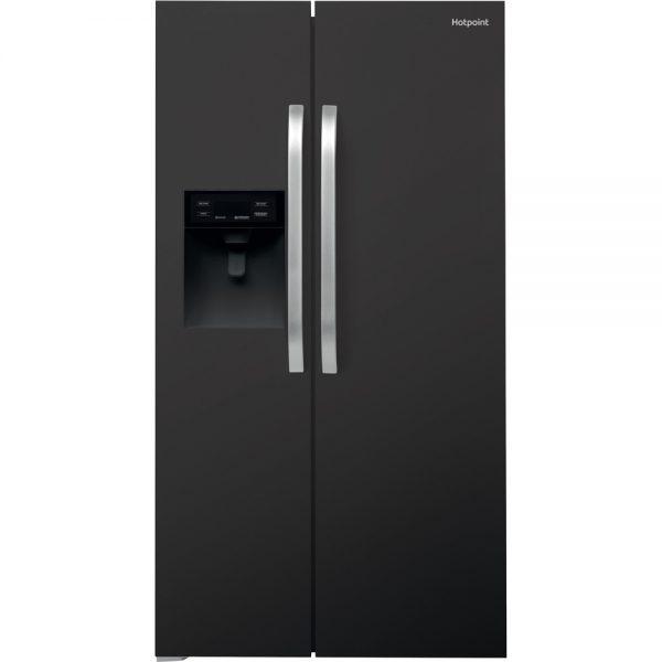 Hotpoint American fridge black ice + water SXBHE925WDUK