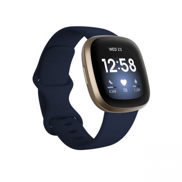 Fitbit Versa 3 Health & Fitness Smart Watch | Midnight & Soft Gold | 79-FB511GLNV