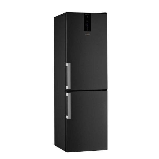 Whirlpool Fridge Freezer Frost Free 318L – Black Inox W9821DKSHUK