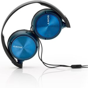 Sony Foldable Headphones with Smartphone Mic and Control – Metallic Blue – MDRZX310APL.CE7