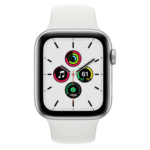 Apple Watch SE 44MM Aluminium Case with Sports Band - Silver - MYDQ2B/A
