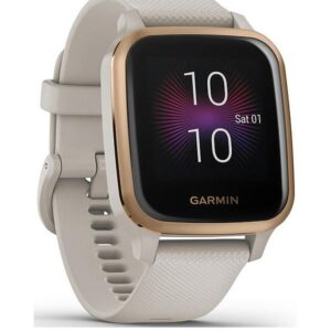 Garmin Venu Sq Music Edition Smart Watch – Rose Gold & Light Sand | 49-GAR-010-02426-11