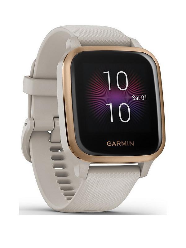Garmin Venu Sq Music Edition Smart Watch – Rose Gold & Light Sand | 49-GAR-010-02426-11