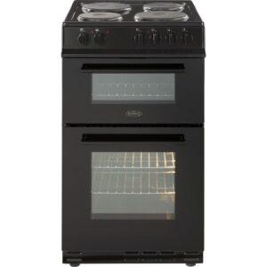 Belling FS50EFDOBLK 50Cm Double Oven Cooker Solid Plate Black