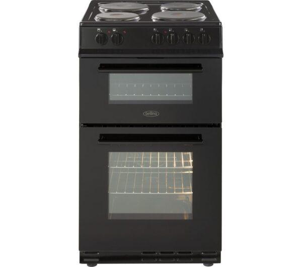 Belling 50Cm Double Oven Cooker Solid Plate Black – FS50EFDOBLK