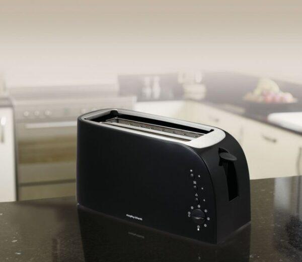 Morphy Richards Essentials 4 Slice Toaster Black 980508