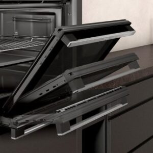 Neff B6ACH7HH0B Slide and Hide Pyrolytic Built-In Smart Single Oven, Stainless Stee