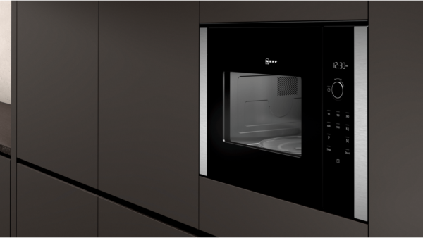 Neff 25L Built-In Microwave Oven – Black   HLAWD53N0B