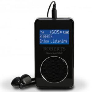 Roberts Radio Sports DAB5 DAB/DAB+/FM Personal Digital Radio – Black