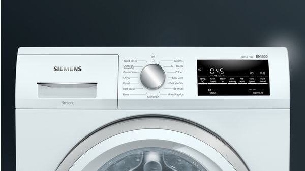 Siemens iQ500 WM14UT71GB Freestanding Washing Machine, 9kg Load, 1400rpm Spin