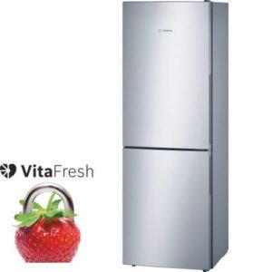 BOSCH KGV33VL31G 60/40 Fridge Freezer - Stainless steel
