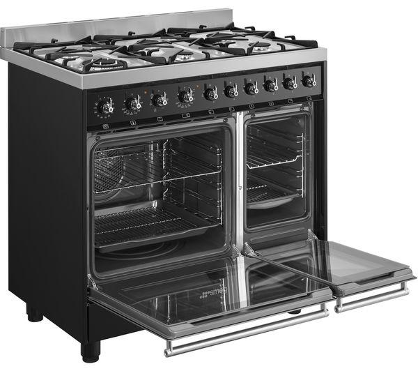 SMEG C92DBL8 Dual Fuel Range Cooker – Stainless Steel & Black