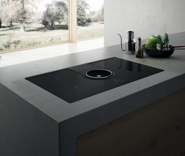 Elica 83cm Nikolatesla SWITCH 4 x Zone Recycling Aspirating Induction Hob 2 x Bridge Zones Black NIKOSWITCHRECYCLEBL