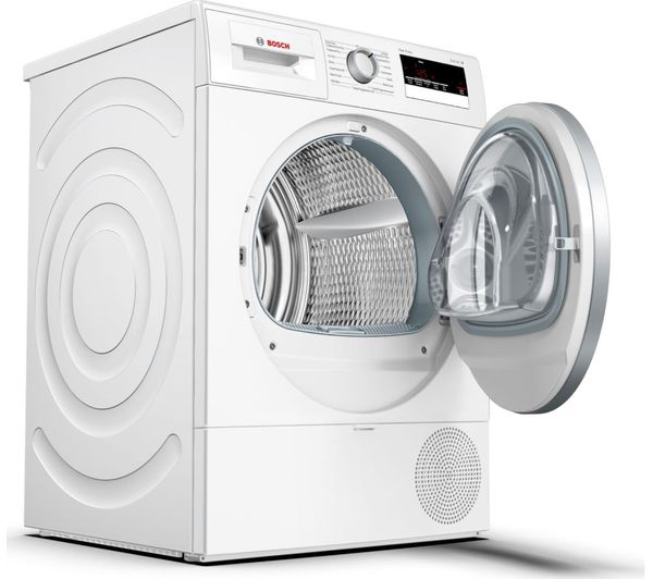 BOSCH Serie 4, 8 kg Heat Pump Tumble Dryer White – WTR85V21GB