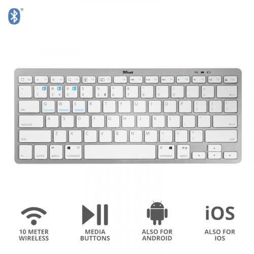 Ultra Thin Wireless Bluetooth Keyboard - T23752
