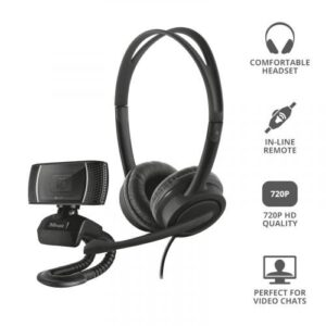 Trust 2-in-1 Headset and Microphone Home Office Bundle – T24036