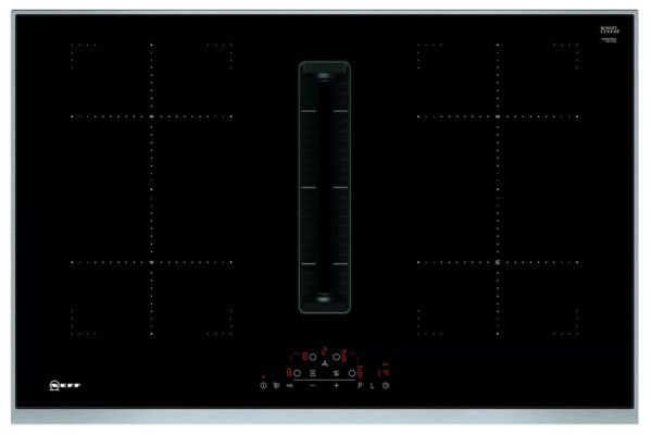 Neff T48TD7BN2 80cm Venting Induction Hob With Integrated Ventilation System Black