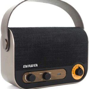 AIWA VINTAGE STYLE PORTABLE RADIO AND SPEAKER - RBTU-600
