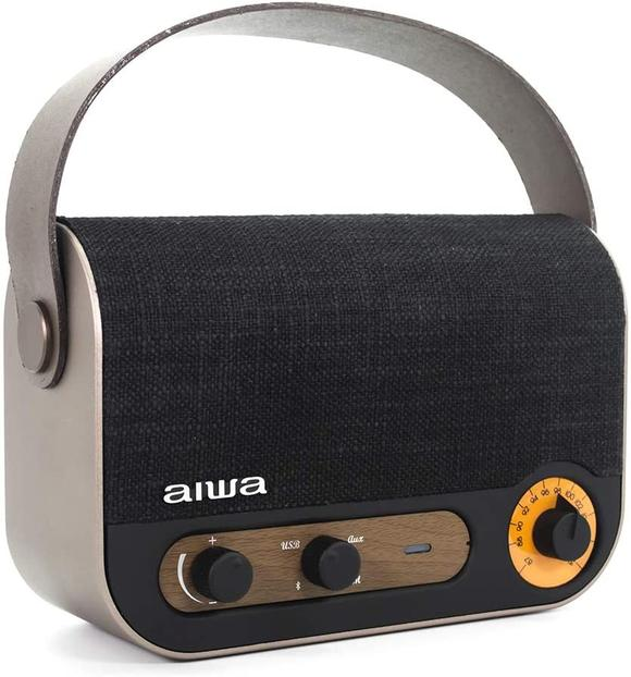 AIWA VINTAGE STYLE PORTABLE RADIO AND SPEAKER - RBTU-600