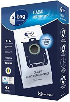 Electrolux Classic Vacuum Bag Long Performance S-Bag - 4 Pack - E201B