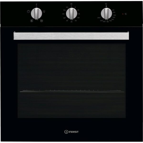 Indesit Aria Built-In Single Electric Oven - Black - IFW6330BLUK