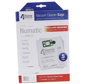 Numatic Henry Dust Bags - 5 Pack - Exsmfb373
