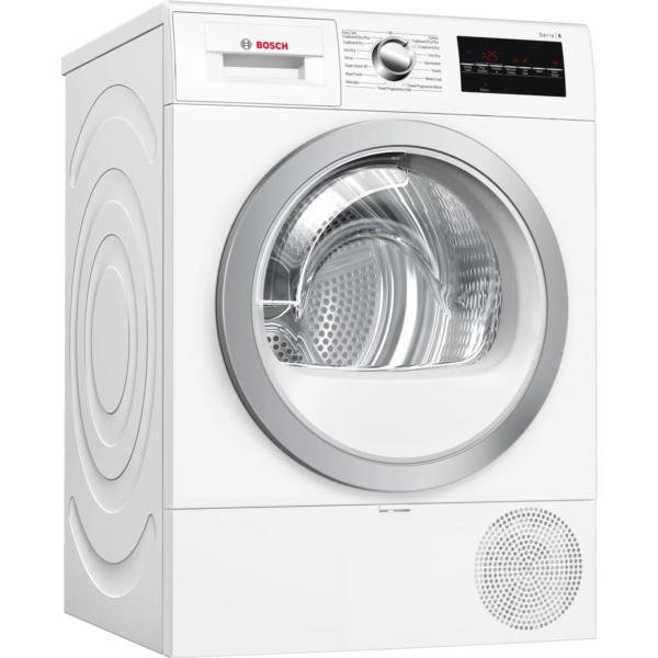 Bosch Serie 6 8KG Freestanding Heat Pump Condenser Tumble Dryer - White | WTR88T81GB
