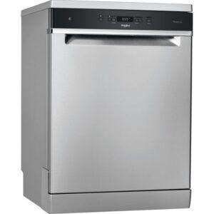 Whirlpool 60CM Freestanding Standard Dishwasher – Inox – WFC3C33PFXUK