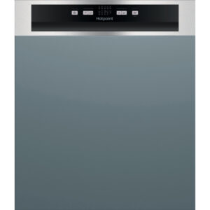 Hotpoint Aquarius 60 cm Semi Integrated Standard Dishwasher - Stainless Steel - HBC2B19XUKN