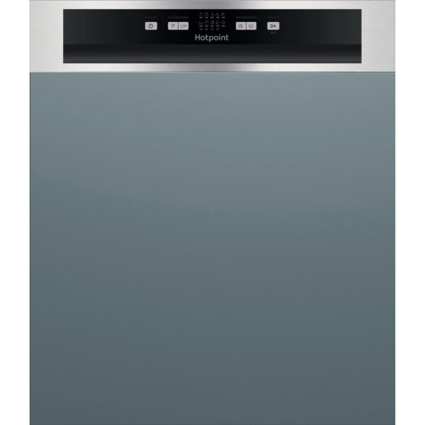 Hotpoint Aquarius 60 cm Semi Integrated Standard Dishwasher - Stainless Steel - HBC2B19XUKN