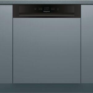 Hotpoint 13 Place Semi-Integrated Dishwasher - Black Control Panel- HBC2B19