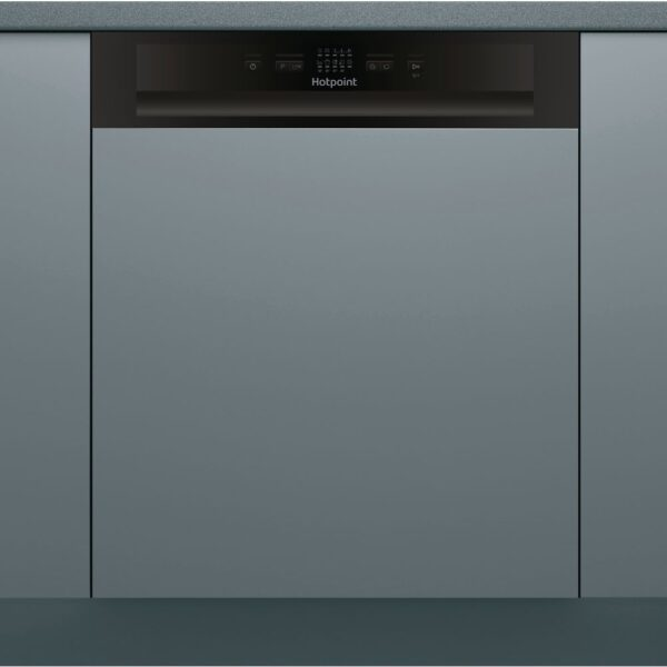 Hotpoint 13 Place Semi-Integrated Dishwasher - Black Control Panel- HBC2B19