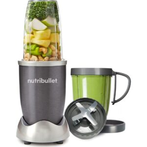 Nutri Bullet 600W Series Juicer Blender 8 Piece set – White – NBLW8