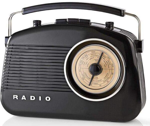 Nedis AM/FM Radio , Battery Powered , Mains Powered Analogue 4.5 W - RDFM5000 Black
