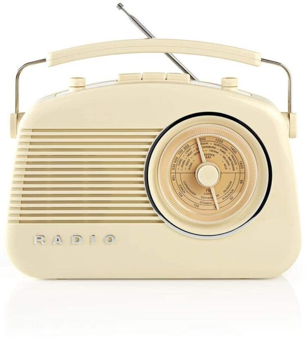 Nedis AM/FM Radio , Battery Powered , Mains Powered Analogue 4.5 W - Red - RDFM5000BN