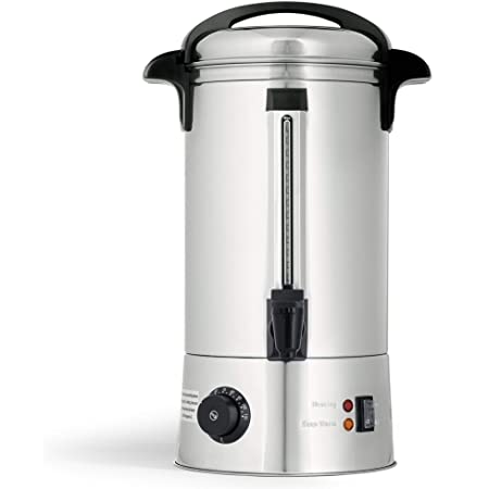 Quest 10 Litres Electric Catering Urn Double Insulated Water Tea Coffee Boiler - 35510