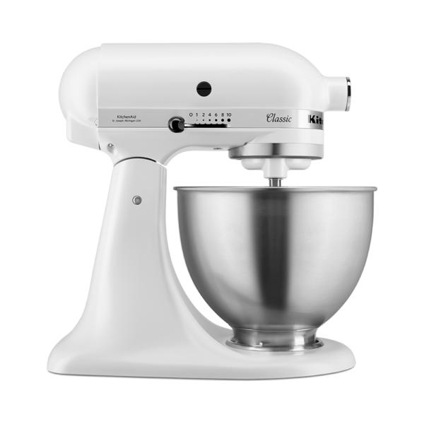 KitchenAid Classic Stand Mixer 4.3 Litre White - 5K45SSBWH
