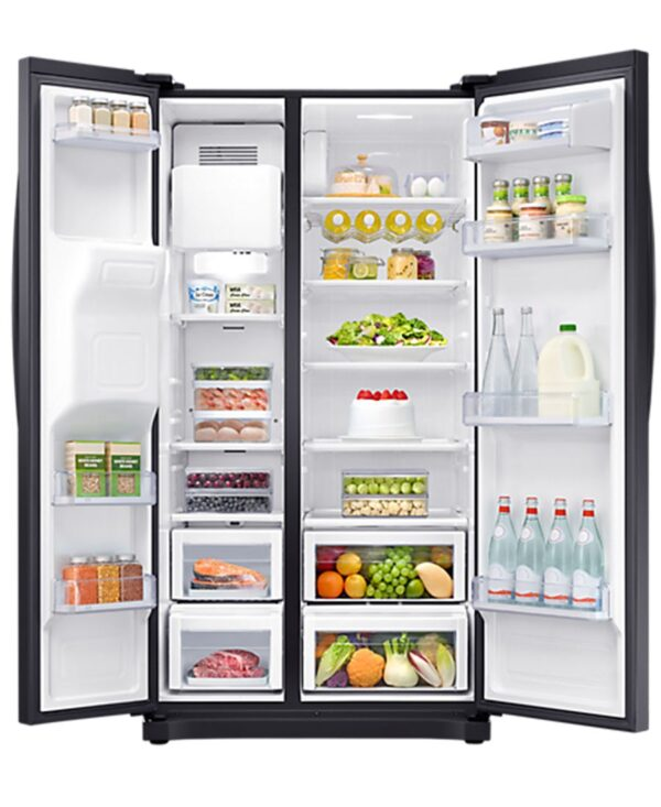 Samsung RS300 Black American Style Fridge Freezer Water + Ice I RS50N3413BC/EU