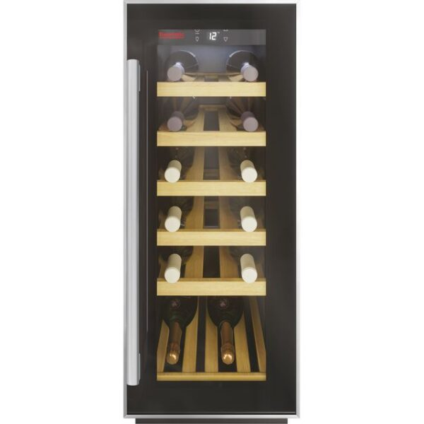 Baumatic 30cm Wine Cooler Black / Stainless Steel - BWC305SS/2