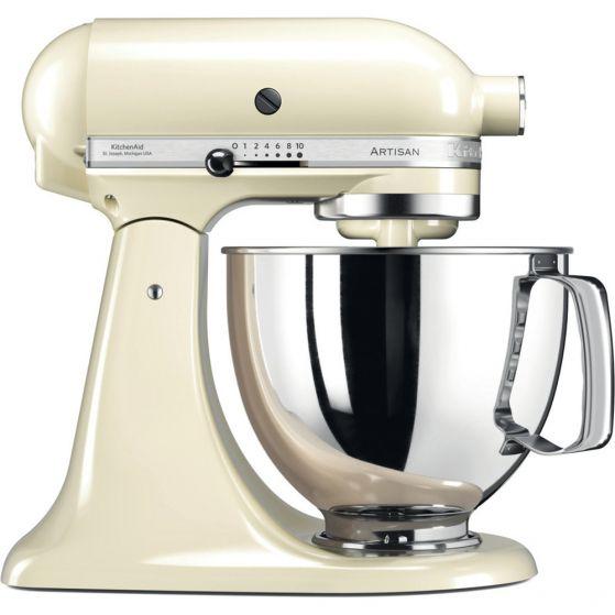 KitchenAid 4.8L Artisian Tilt-Head Stand Mixer - 5KSM125BAC -Cream