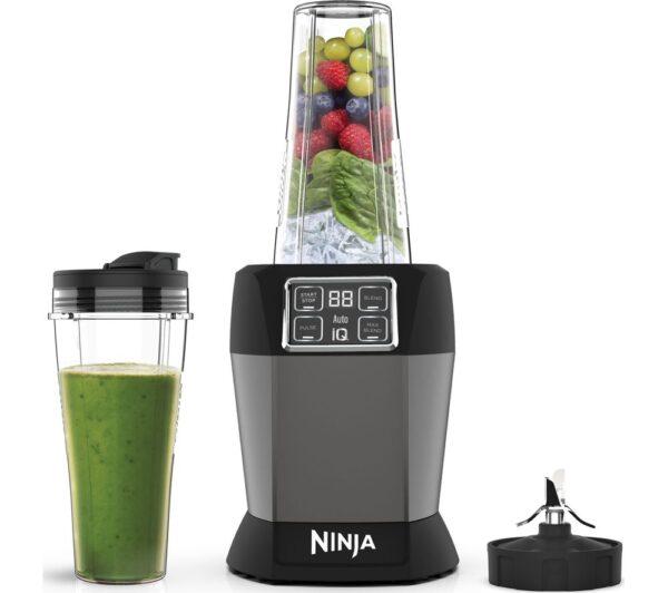 Ninja Auto-IQ 0.7L 1000W Personal Blender Black & Silver – BN495UK