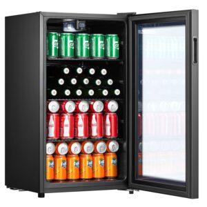 Belling 480mm wide Glass beverage cooler - BDC76BLK