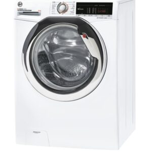 Hoover H-Wash 300 Freestanding Washing Machine, 8kg Load, 1400rpm Spin, White - H3WS 485TACE/1-80