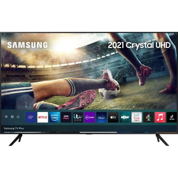 Samsung AU7100 55″ 4K Ultra HD HDR LED Smart TV – UE55AU7100KXXU