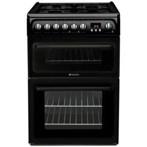 Hotpoint 60cm Gas Cooker Black – HAG60K