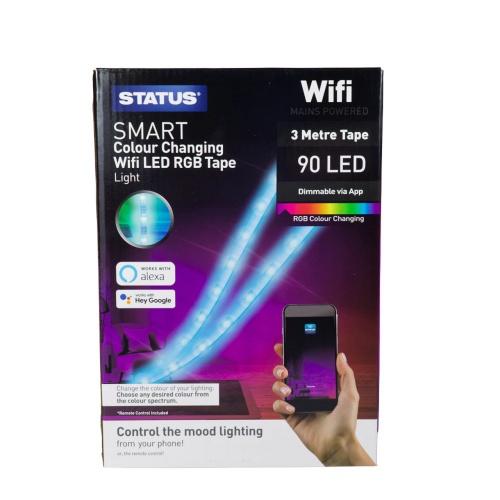 Status 153MTRGB Wifi LED RGB Colour Changing Tape Light 3 Metre