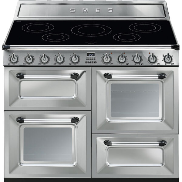 Smeg 110cm Victoria Range Cooker with Induction Hob Stainless Steel – TR4110IX-1