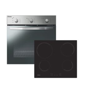 Candy Built In Electric Single Oven and Ceramic Hob Pack - Stainless Steel - COEHP60X/E