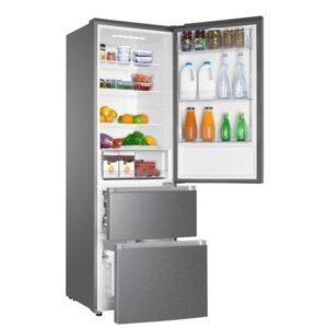 Haier 330L No Frost Freestanding Fridge Freezer - Platinum Inox - HTR3619FNMP