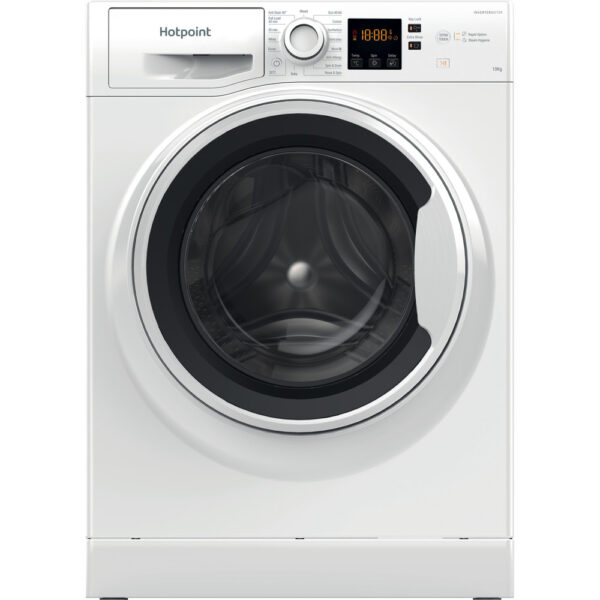 Hotpoint 10Kg Washing Machine with 1400 rpm White – NSWA1044CWWUKN